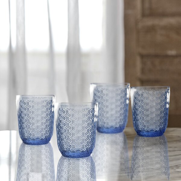 Bistro Key Old Fashion Glass Cocktail Glass (Set of 4) by Elle Decor