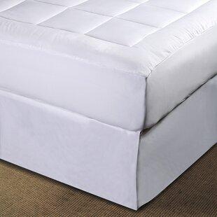 Micro Plush Pillowtop Polyester Mattress Pad ByLCM Home Fashions