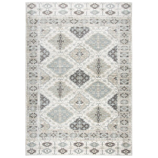 Yancy Geometric Ivory Area Rug by Bungalow Rose