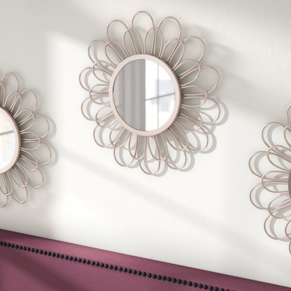 Flower Accent Mirror by Ivy Bronx