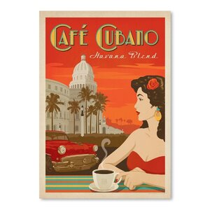 Coffee Cafe Cubano Vintage Advertisement by East Urban Home