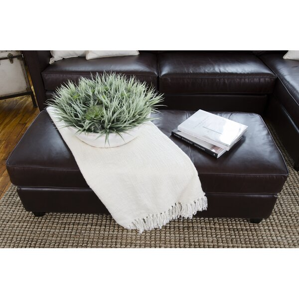 Urban Leather Cocktail Ottoman by Elements Fine Home Furnishings