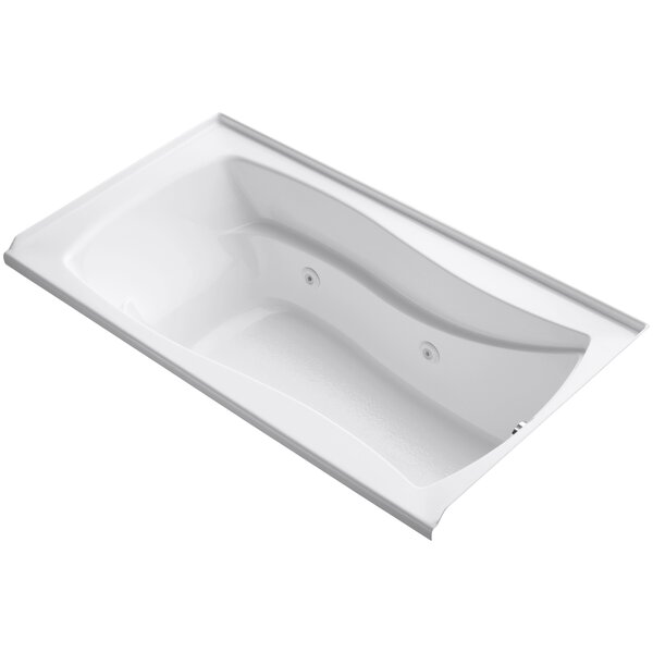Mariposa Alcove 66 x 36 Whirpool Bathtub by Kohler