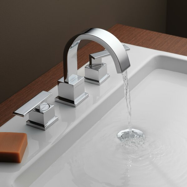Vero Two Handle Widespread Bathroom Faucet with Drain Assembly by Delta