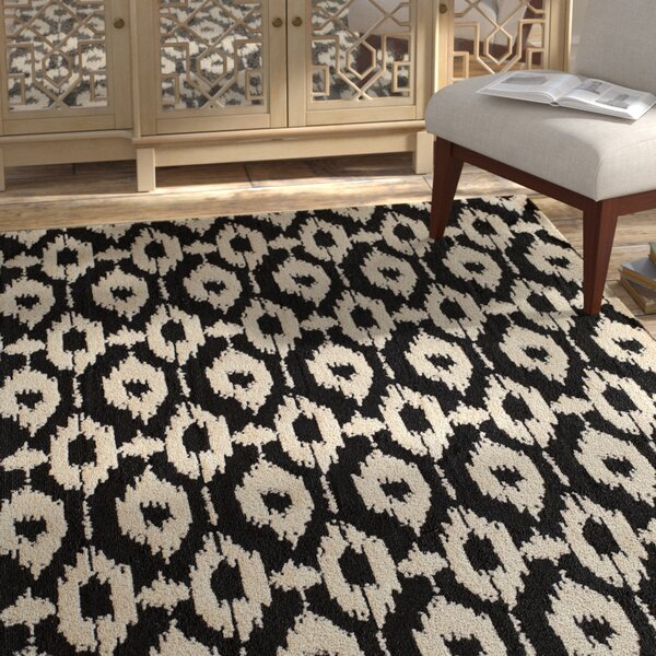Ambrose Hand-Tufted Black/Gray Area Rug by Bungalow Rose