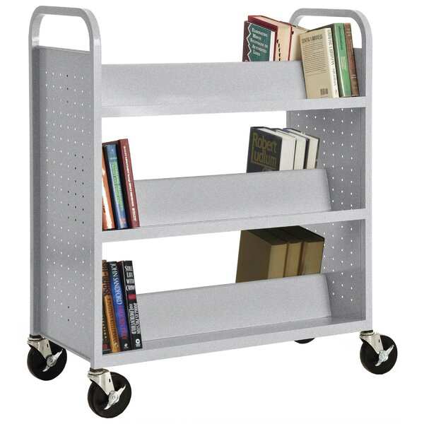 Double-Sided Book Cart by Sandusky Cabinets