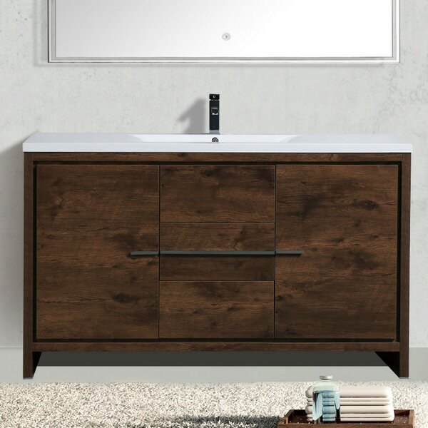 Almendarez Modern 59 Single Bathroom Vanity Set by
