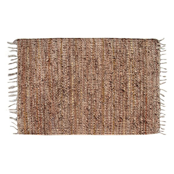 Recio Hand-Woven Tan Area Rug by Loon Peak