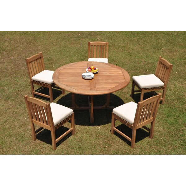 Patson 6 Piece Teak Dining Set by Rosecliff Heights
