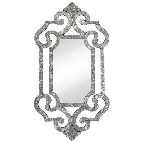 Decorative Antique Silver Beveled Accent Mirror by Majestic Mirror