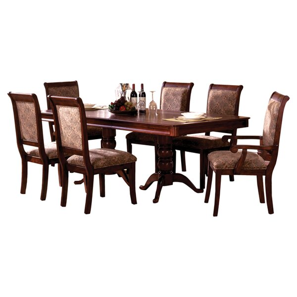 Nikolas 7 Piece Extendable Dining Set by Hokku Designs