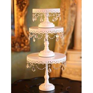 sc 1 st  Wayfair & Tall White Cake Stand | Wayfair