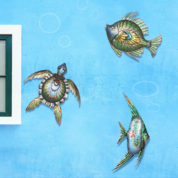 3 Piece Sea Life Outdoor Wall Decor Set by Bay Isle Home