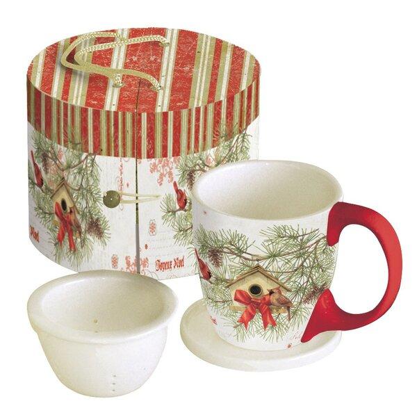 11 oz. Cardinal In Pines Tea Cup by Lang