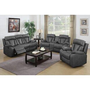 Beccaro Reclining 3 Piece Living Room Set by Latitude Run®