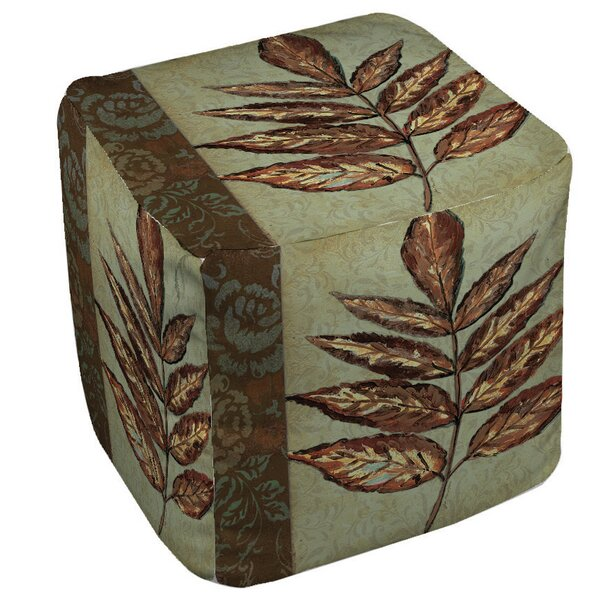 Golden Leaf 2 Pouf by Manual Woodworkers & Weavers
