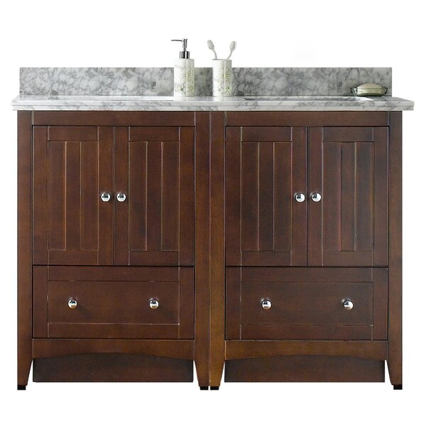 Nixon Floor Mount 48 Double Bathroom Vanity Set by Royal Purple Bath Kitchen