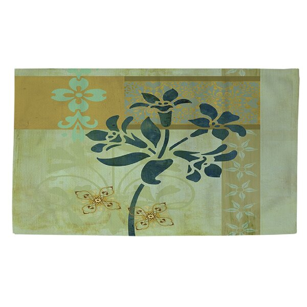Collage Blossoms Blue Area Rug by Manual Woodworkers & Weavers