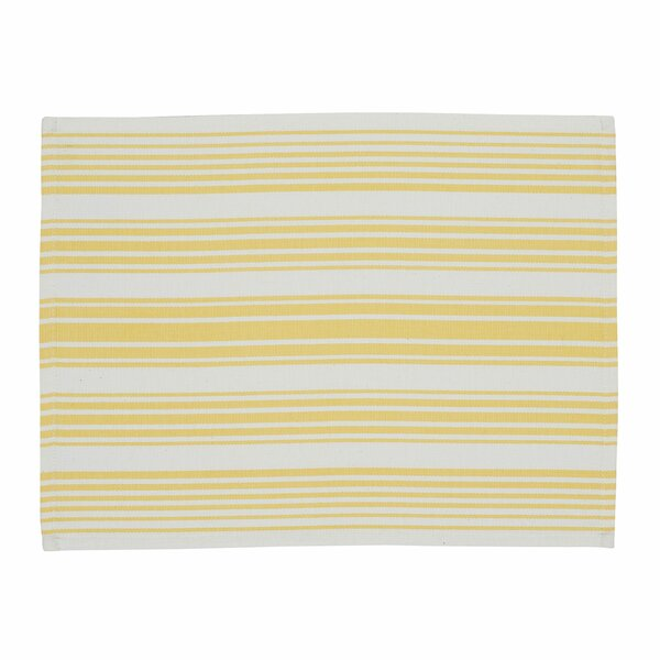 Ilda Lemon Zest Stripe Placemat (Set of 6) by Darby Home Co