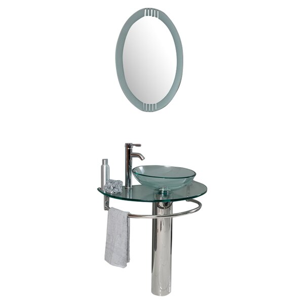 Vetro 30 Single Attrazione Modern Bathroom Vanity Set with Mirror by Fresca