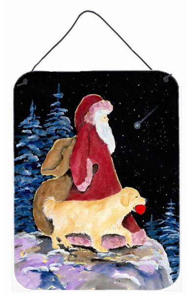 Santa Claus with Golden Retriever by Suzanne Stain