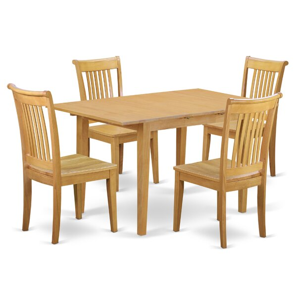 Balfor 5 Piece Extendable Breakfast Nook Solid Wood Dining Set by Andover Mills