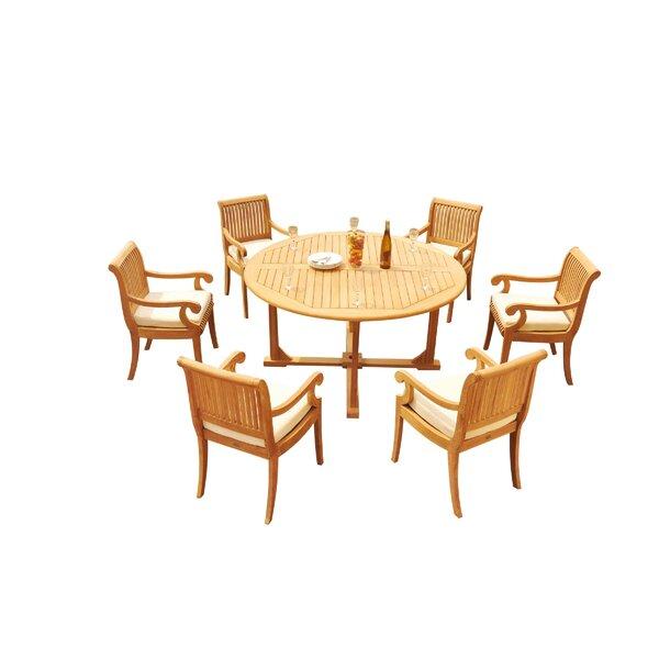 Massenburg 7 Piece Teak Dining Set