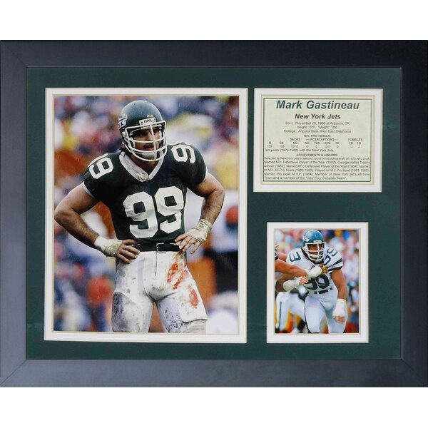 Mark Gastineau Framed Photographic Print by Legends Never Die