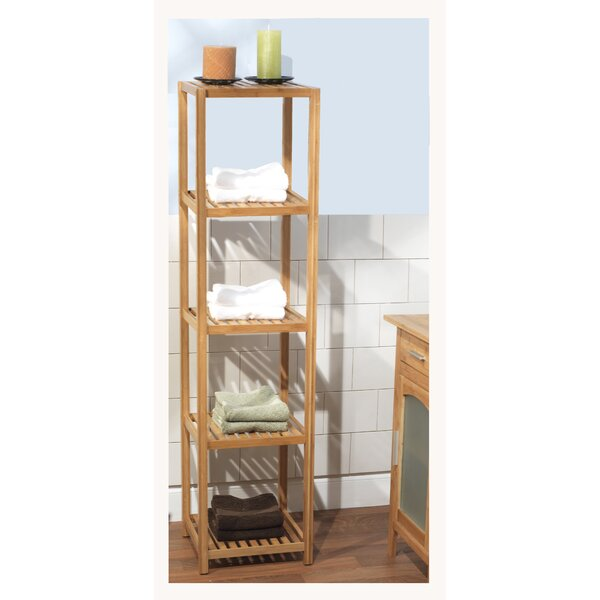 Harley 14.1 W x 57.8 H Bathroom Shelf by Beachcrest Home