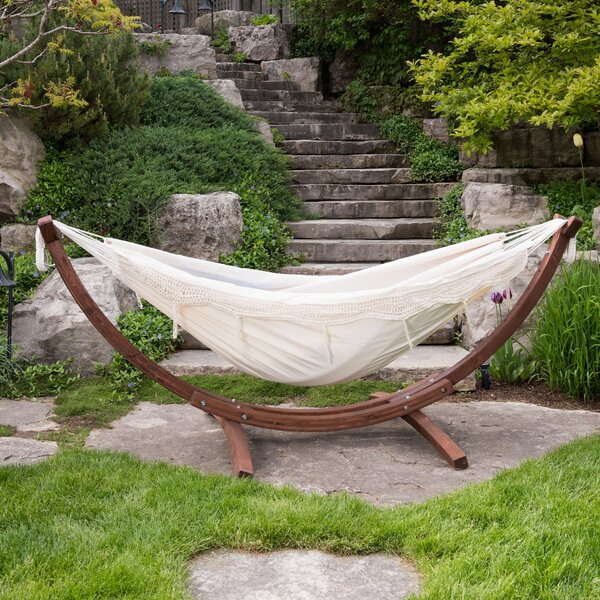 Holyoke Double Camping Hammock With Stand By Bay Isle Home