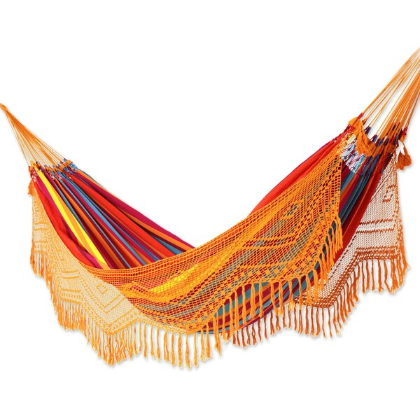 Mcclung Carnaval Cotton Double Camping Hammock by Bloomsbury Market Bloomsbury Market