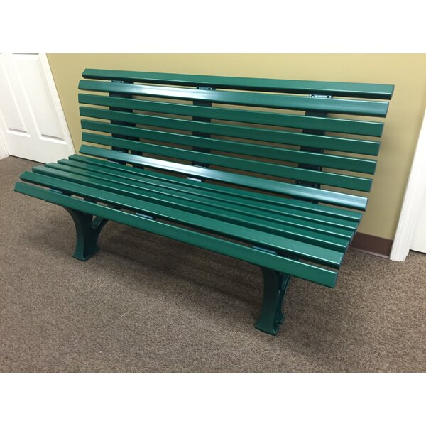 Tamiko Courtside Plastic Park Bench by Freeport Park