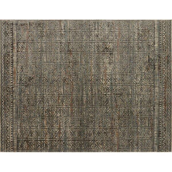 Zanders Charcoal/Silver Area Rug by Bloomsbury Market