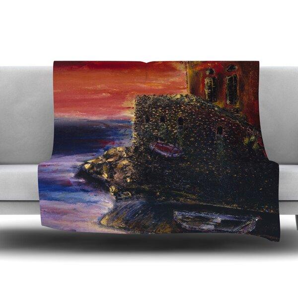Seaside Village by Josh Serafin Fleece Blanket by East Urban Home