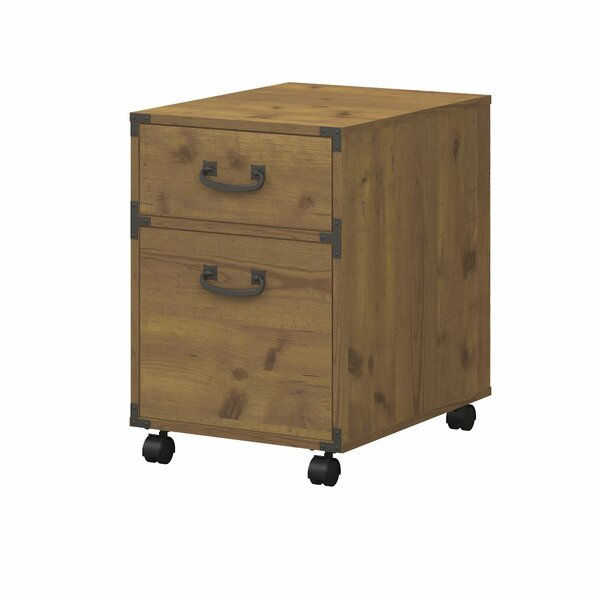 Ironworks 2-Drawer Pedestal Mobile Vertical File by Kathy Ireland Office by Bush