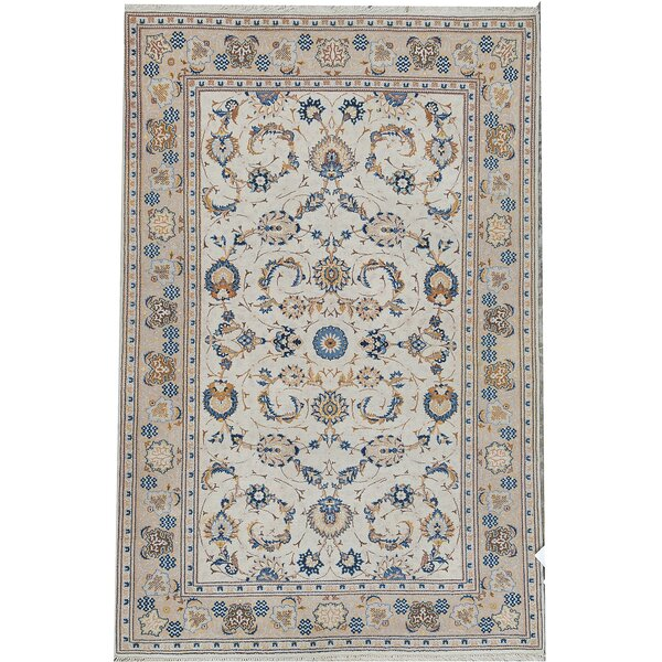 Oriental Hand-Knotted Wool Blue Area Rug