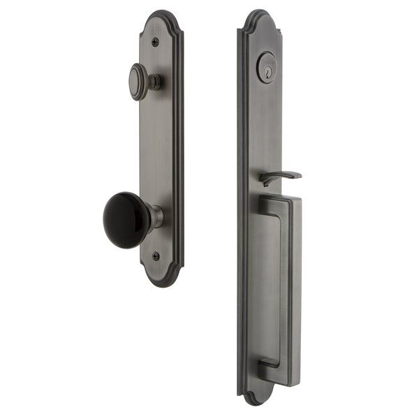 Arc Single Cylinder Handleset with D Grip and Coventry Knob by Grandeur