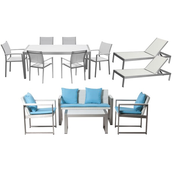 Chstr 13 Piece Complete Patio Set with Cushions by Wade Logan