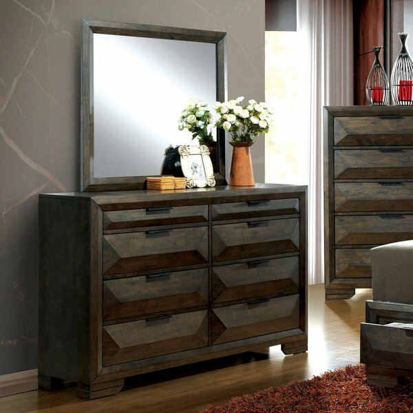 Barbosa 8 Drawer Double Dresser with Mirror by Foundry Select