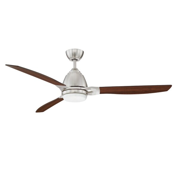 17 Stories 52 Amd 3 Blade Led Propeller Ceiling Fan With Wall Control And Light Kit Included Reviews Wayfair