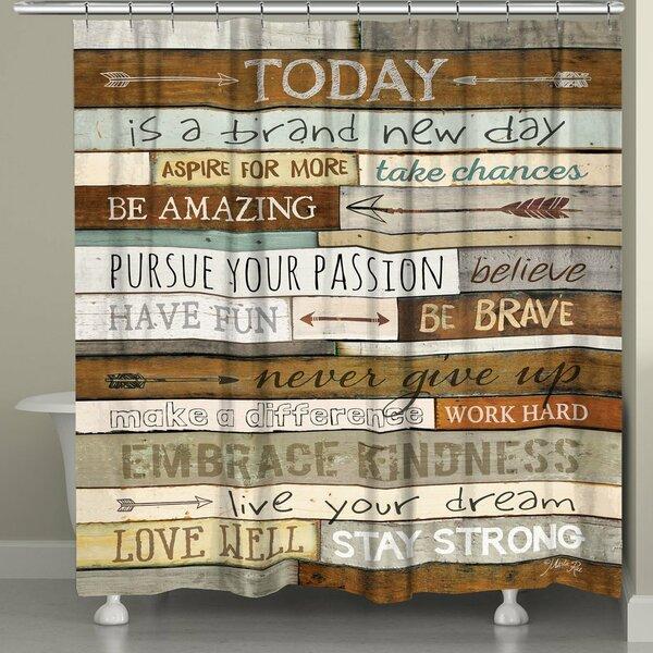 Goree Inspiring Mantra Shower Curtain by Red Barrel Studio