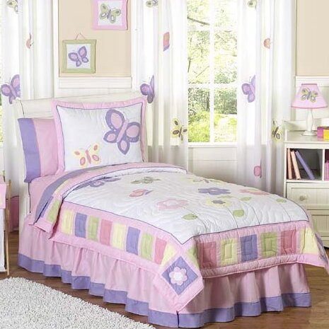 Butterfly 3 Piece Comforter Set by Sweet Jojo Designs