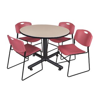 Marin Round 5 Piece Breakroom Table and Chair Set BySymple Stuff