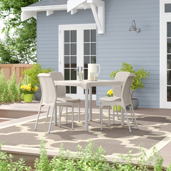 Abe Patio 5 Piece Dining Set By Winston Porter by Winston Porter Discount