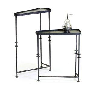 Kason Asymmetrical 2 Piece End Table Set by ..