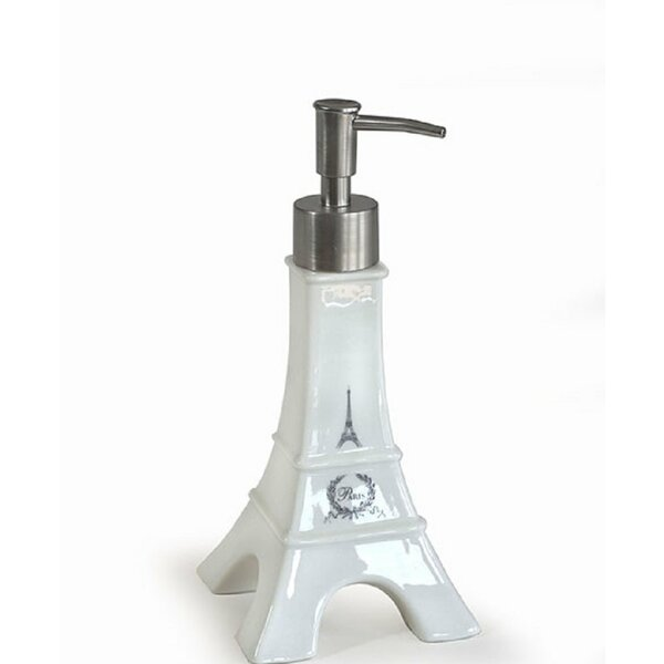 Cabarley Le Bain Paris Eiffel Tower Ceramic Soap & Lotion Dispenser by Ophelia & Co.