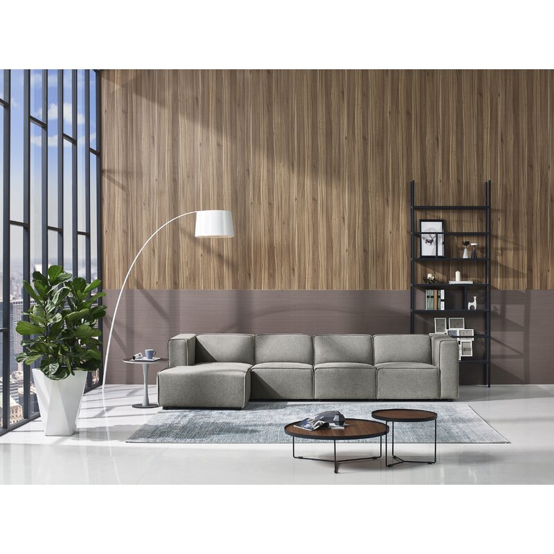 Miraculous Petra Left Hand Facing Modern Modular Sectional With Ottoman Gmtry Best Dining Table And Chair Ideas Images Gmtryco