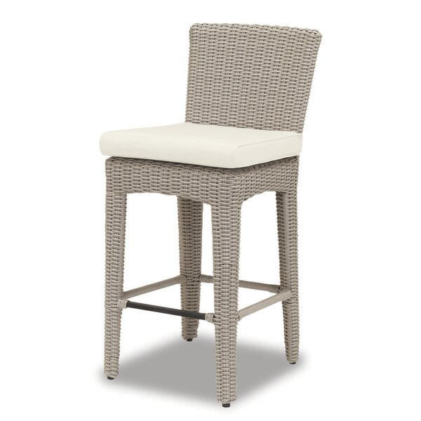 Manhattan 30 Patio Bar Stool with Cushion by Sunset West