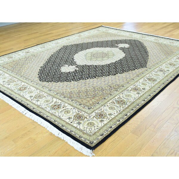 One-of-a-Kind Beaton Pak Handwoven Black Wool/Silk Area Rug by Isabelline