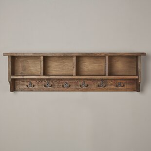 Lachlan Wall Mounted Coat Rack With Storage Cubbies